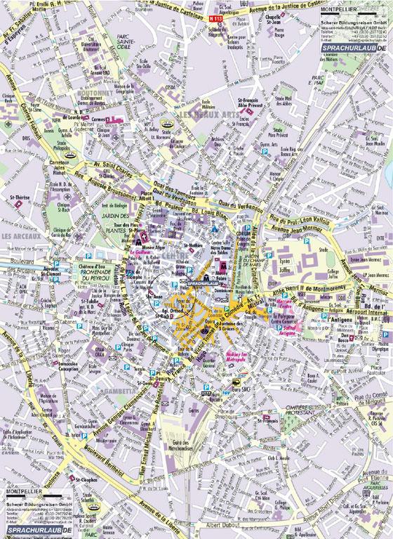 Mapa de Montpellier  1