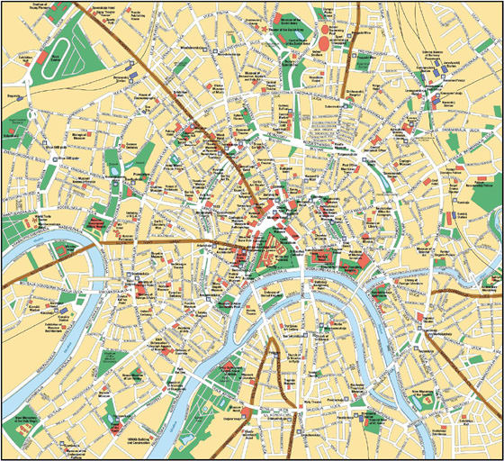 Large map of Moscow 1