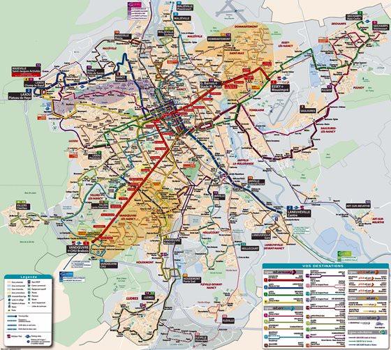 Große Karte von Nancy 1