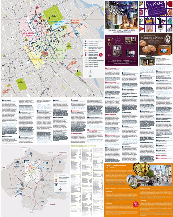 Nancy Tram Map for Free Download Map of Nancy Tramway Network