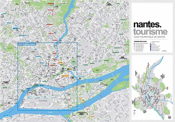 Große Karte von Nantes 1