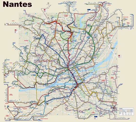 Nantes Tram Map for Free Download Map of Nantes Tramway Network