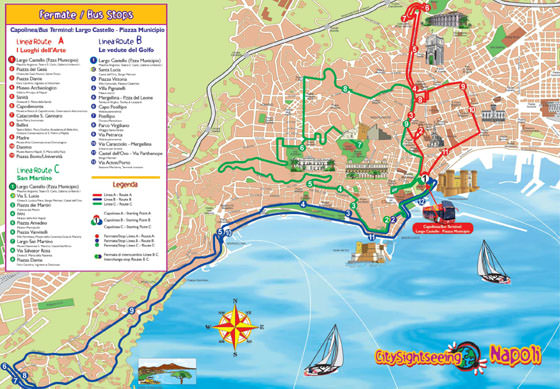 Large map of Naples 1