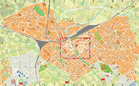 Detailed map of Narbonne 2