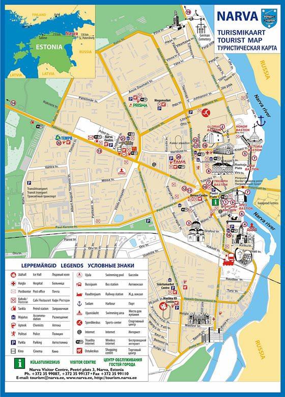 Große Karte von Narva 1