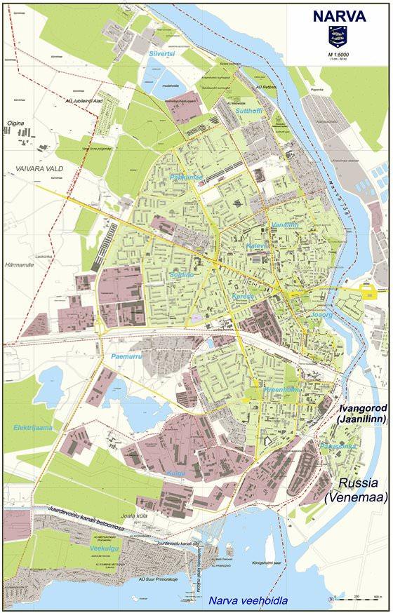 Detaillierte Karte von Narva 2