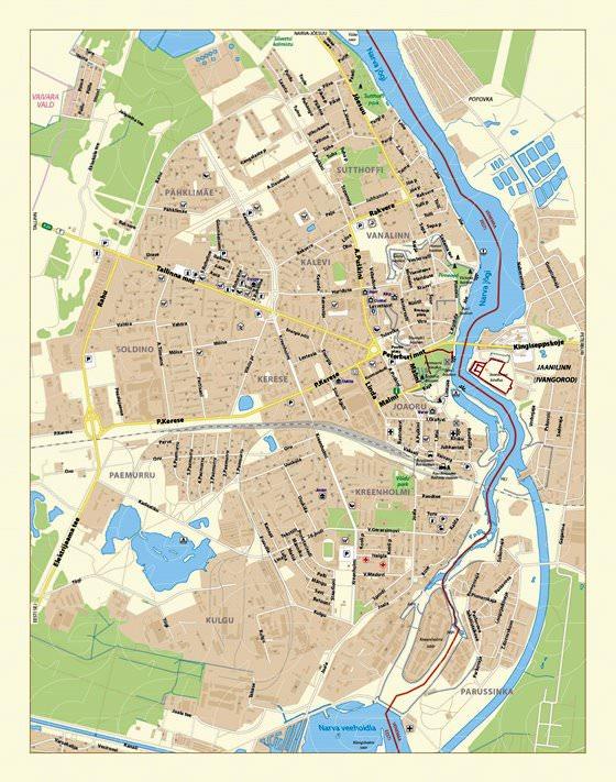 Große Karte von Narva 3