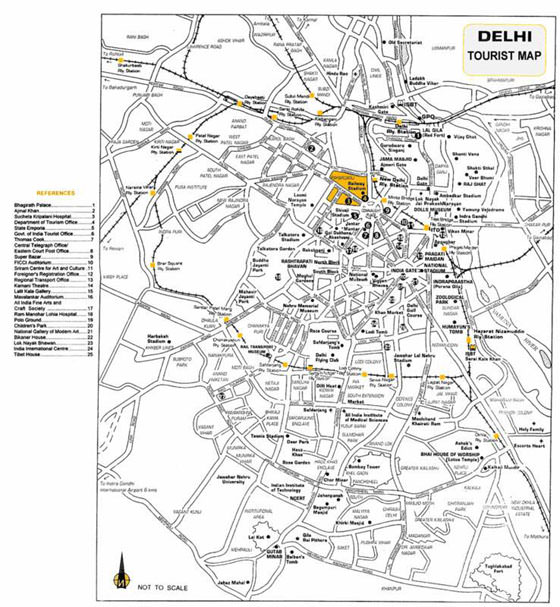 Large map of New Delhi 1