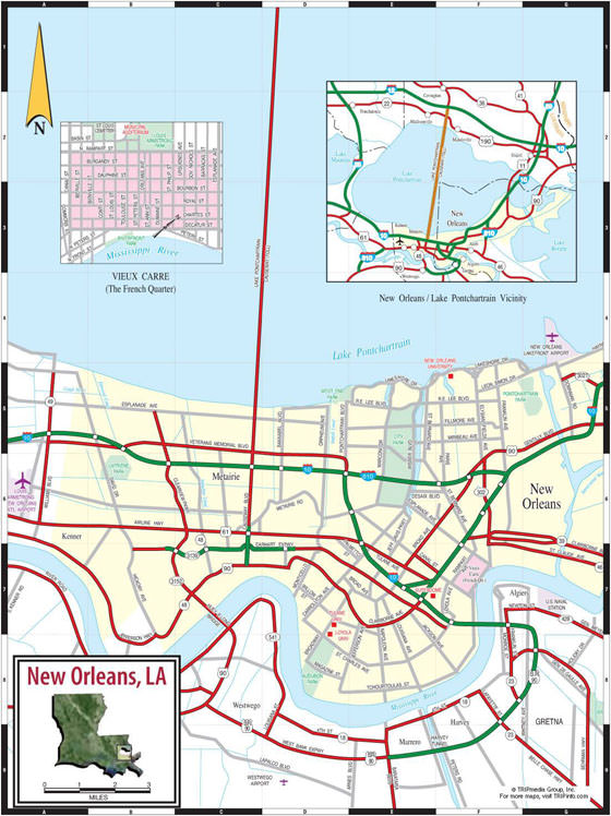 Detailed map of New Orleans 2