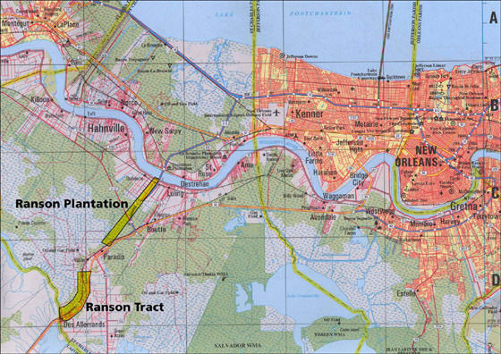 Large map of New Orleans 3
