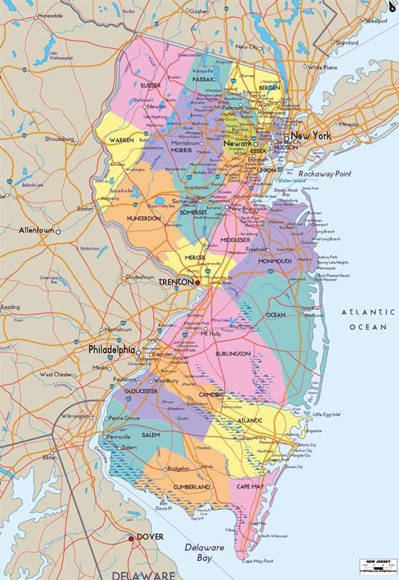 Karte von New Jersey 2