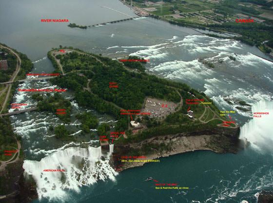 Große Karte von Niagara Falls 1