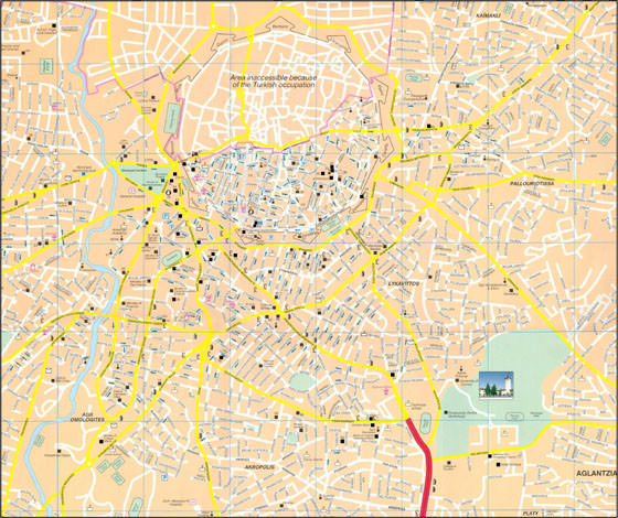 Detailed map of Nicosia 2