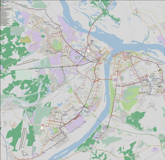 Подробная карта Нижнего Новгорода 2