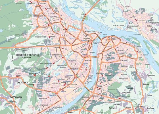 Детальная карта Нижнего Новгорода 3