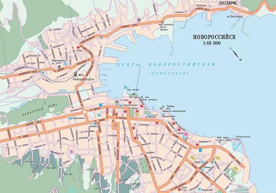 Карта Новороссийска 1