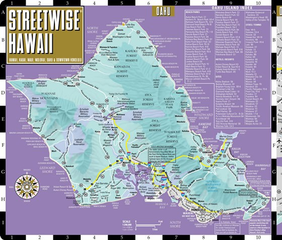 Karte von Oahu Insel 1