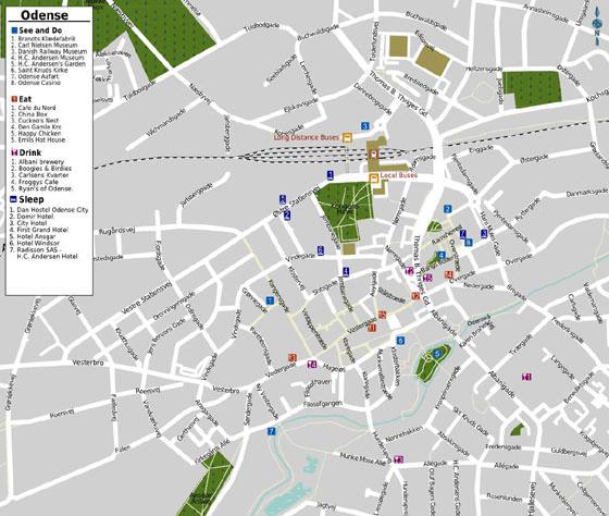 Große Karte von Odense 1