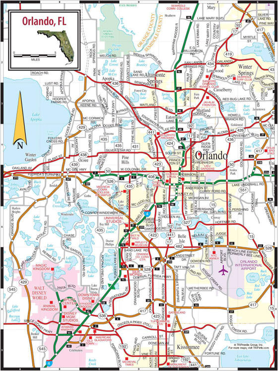 Large Orlando Maps For Free Download And Print High Resolution And Detailed Maps