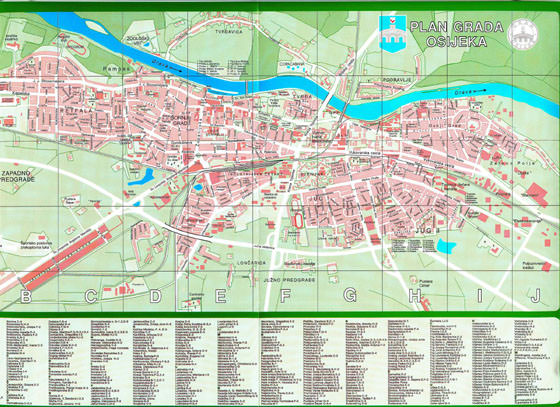 Large map of Osijek 1