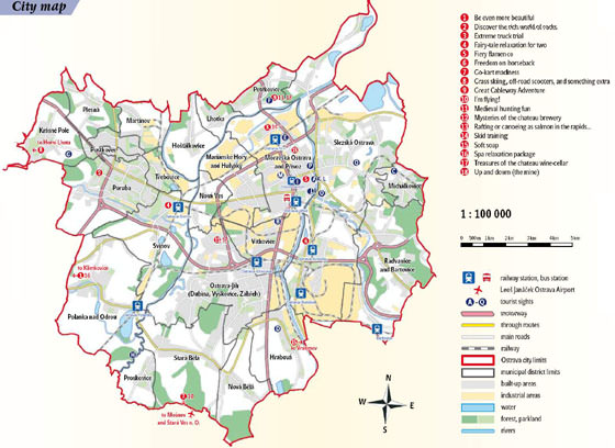 Large map of Ostrava 1