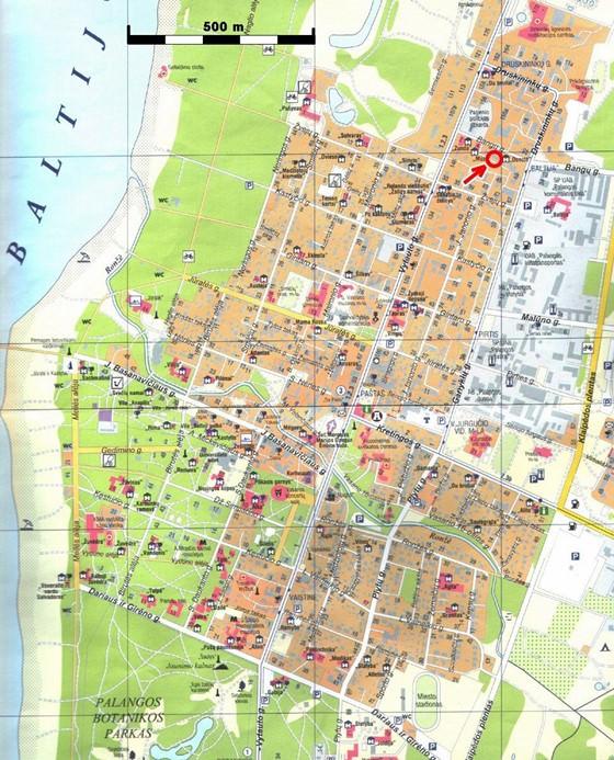 Stadtplan von Palanga | Detaillierte gedruckte Karten von ...