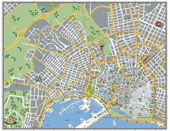 Carte de Palma de Majorque