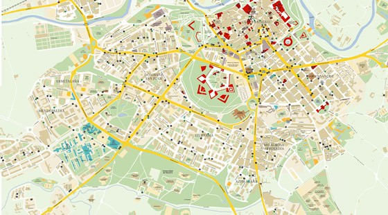 Large map of Pamplona 1