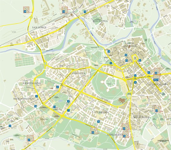 Detailed map of Pamplona 2
