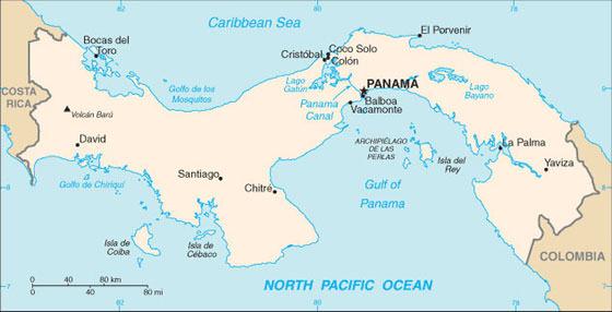 Карта Панама Сити 1