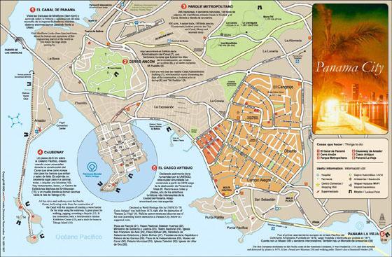 Карта Панама Сити 2
