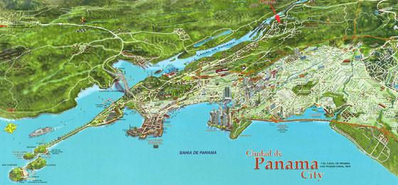 Карта Панама Сити 3