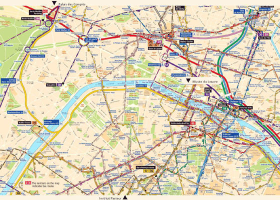 Detailed map of Paris 2