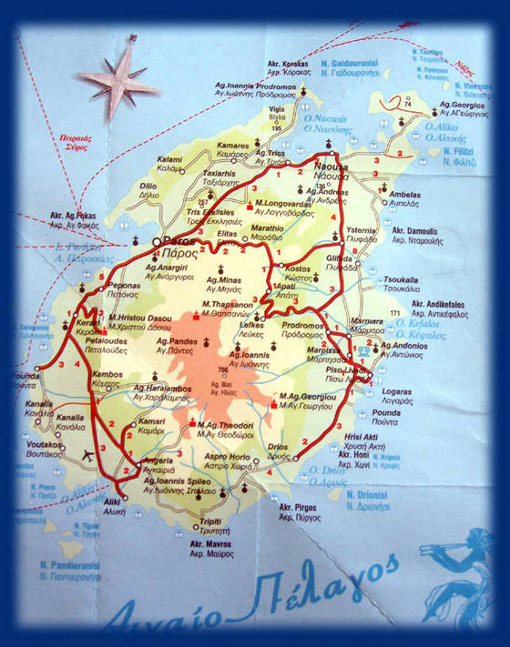 Interactive Map Of Paros Search Touristic Sights Hiking