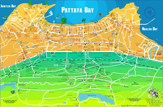 Large map of Pattaya 1