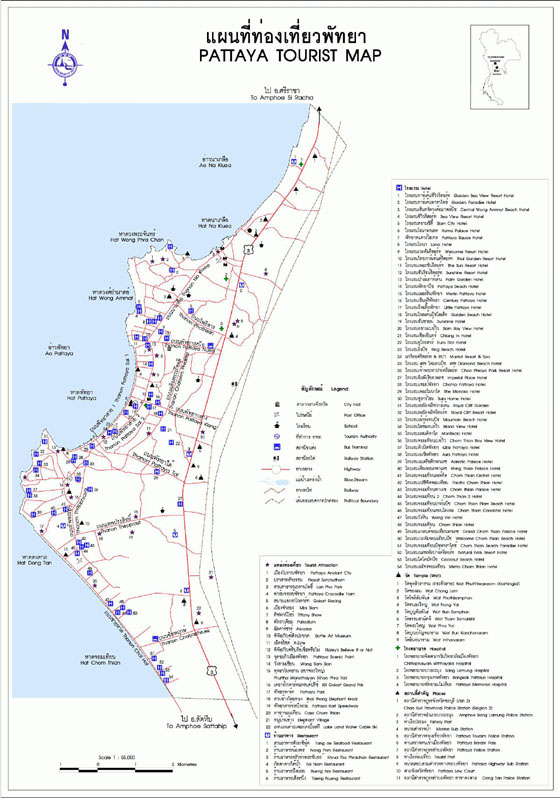 Detailed map of Pattaya 2