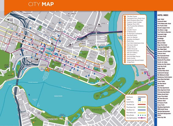 Detailed map of Perth 2