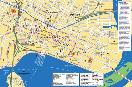 Large map of Perth 3