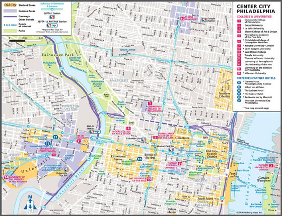 Detailed map of Philadelphia 2