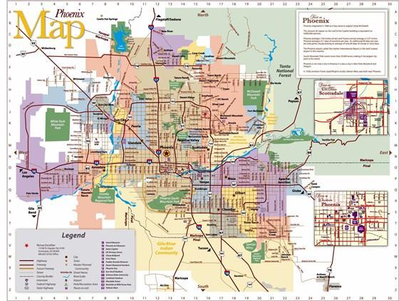 Große Karte von Phoenix 1