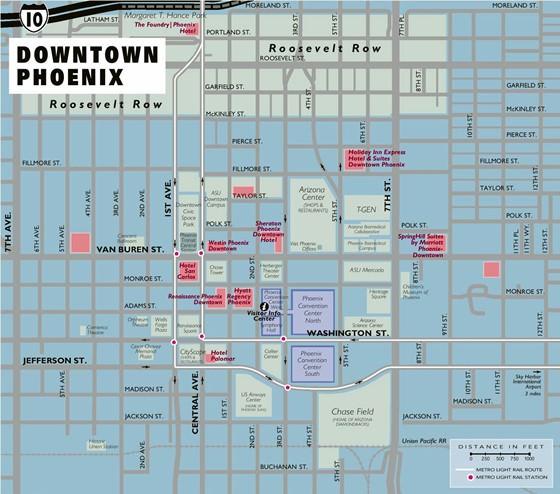 Detaillierte Karte von Phoenix 2