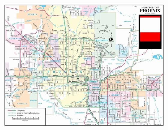 Große Karte von Phoenix 3
