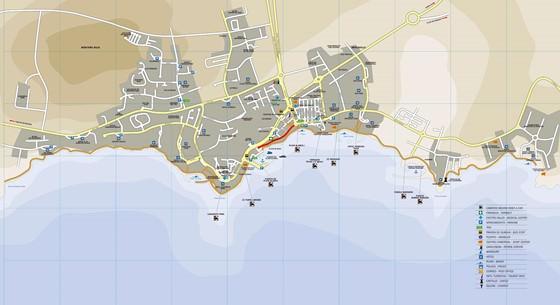 Large map of Playa Blanca 1