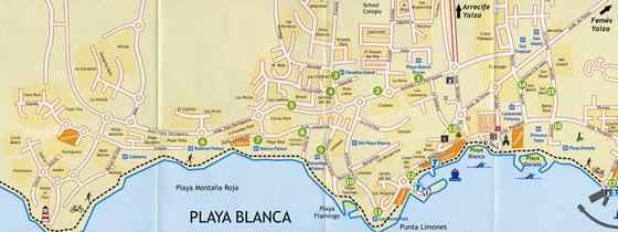 Detailed map of Playa Blanca 2
