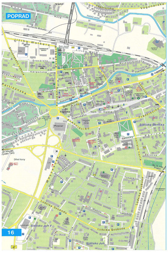 Large map of Poprad 1