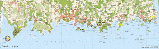 High-resolution map of Porec for print or download
