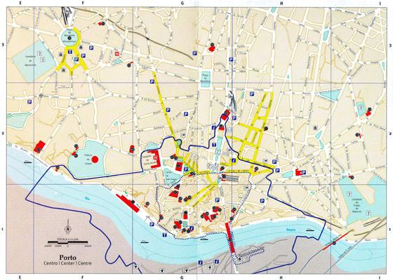 Oporto En El Mapa.Mapas Detallados De Porto Para Descargar Gratis E Imprimir