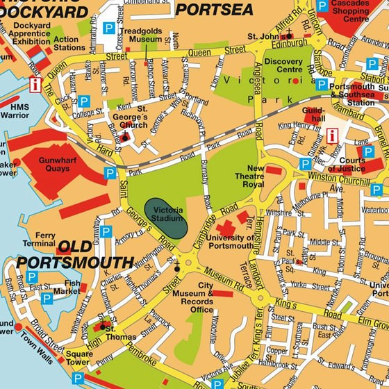 Detailed map of Portsmouth 2