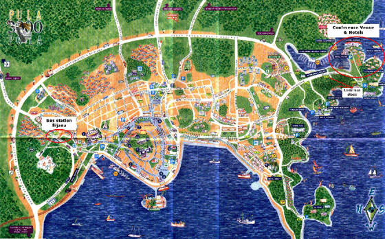 Detailed map of Pula 2
