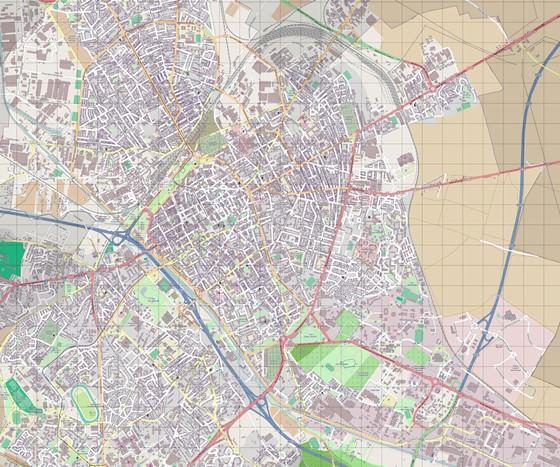 Große Karte von Reims 1